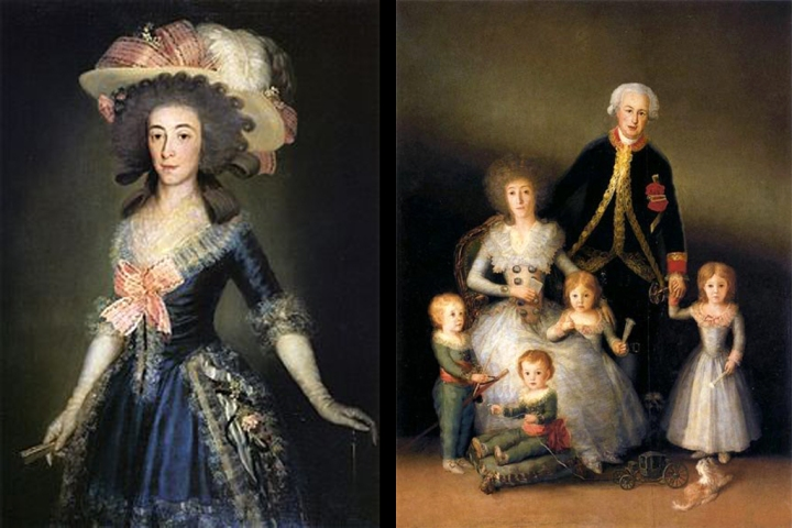 Duquesa de Osuna y familia